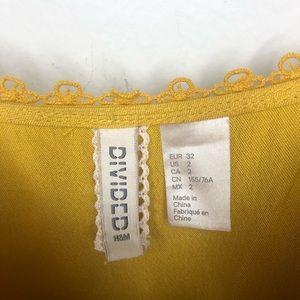 H&M Dresses - H&M Sleeveless Lace Crochet Golden Sun Dress